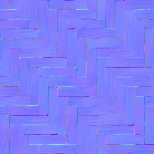 Parquet floor normal map for Floor normal map