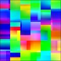 Abstract Multicolor Gradient Tiles