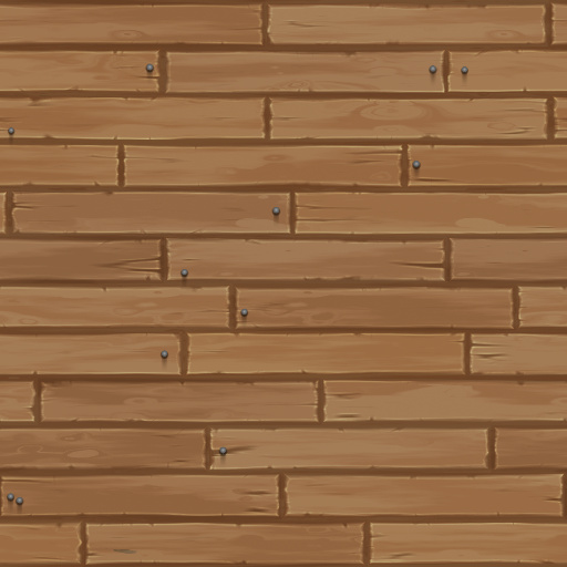Cartoon wooden planks