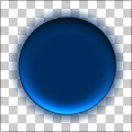 HD Blue Button with Glow Shadow