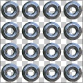 3D Reflective Chrome Metal Eyelets