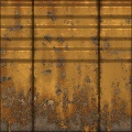 Yellow Rusty Wall Panel