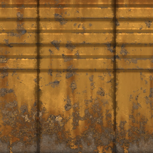 Yellow Rusty Wall Panel (Texture)
