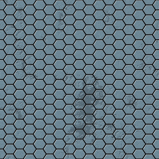 Derogated Hexagon Tiles Texture
