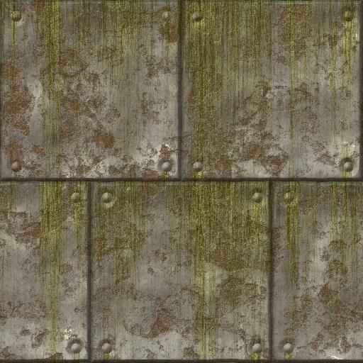 Slimy Metal Plates Texture