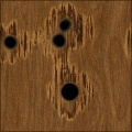 Bullet Holes in Wood