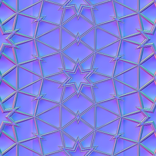 Glasstic patterns normal map for Floor normal map