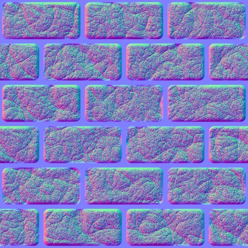 Castle bricks normal map for Floor normal map