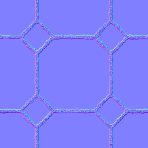 Classic floor tile normal map for Floor normal map