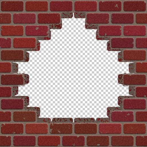 Broken Brick Wall Drawing