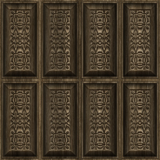 Carved Wood Panels 2 Texture