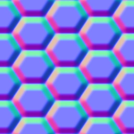 Hexagon - Net - Normal Map
