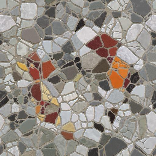 Broken Mosaic Tiles Effect