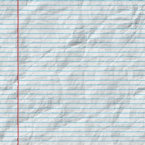 Wrinkled Notebook Paper For Kids