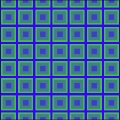 Blue Green Squares