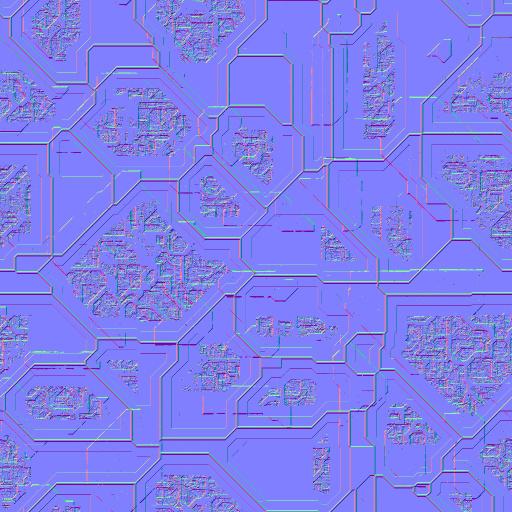 Complex Greebles - Normal Map