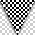 Checkered Racing Flag (triangular)