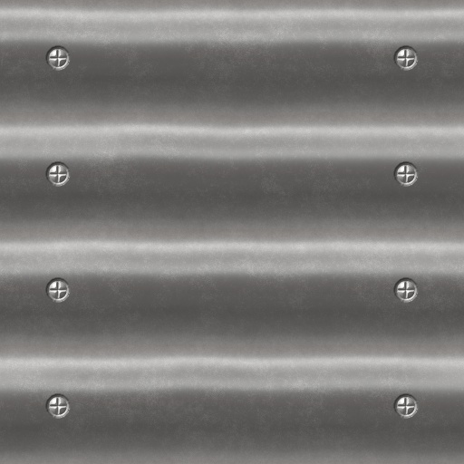 Corrugated Metal Panel sinusoidal Texture