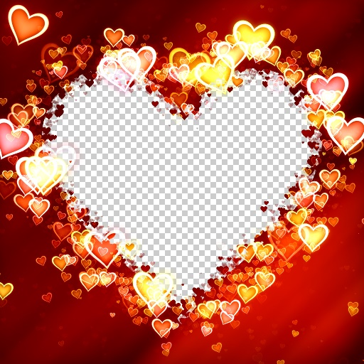 Glowing Hearts Frame (Effect)