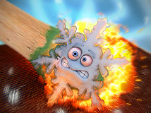Snowflake on a match by 3DPaz